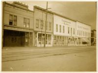 Storefront scene on Elk (State) Street, Bellingham, WA