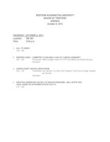 WWU Board of Trustees Packet: 2015 -10-08