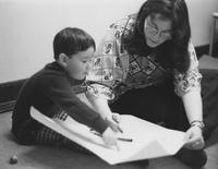 1975 Child With Teacher