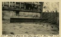 Lower Baker River dam construction 1925-05-09 Steel I Beam for Stop Log Jack Run #98