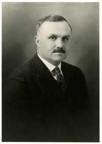 Formal studio portrait of Edward W. Stimpson