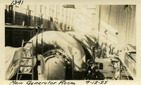 Lower Baker River dam construction 1925-09-12 Main Generator Room