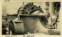 Lower Baker River dam construction 1925-08-20 Unit #1