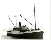 Starboard view of wooden steam schooner Norwood