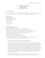 WWU Board of Trustees Meeting Records 2017 July