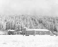 1950 Campus School Building Jan. 1950, Snow on the Ground