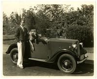 Gunnar Anderson and Duke in Austin roadster