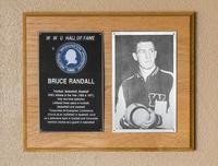 Hall of Fame Plaque: Bruce Randall, Football, Basketball, Baseball, Class of 1976