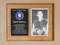 Hall of Fame Plaque: Bruce Randall, Football, Basketball, Baseball, Class of 1976