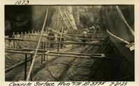 Lower Baker River dam construction 1925-07-31 Concrete Surface Run #178 El.3775