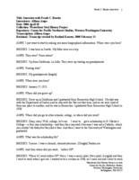 Frank C. Brooks oral history interview (transcript)
