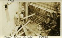 Lower Baker River dam construction 1925-09-29 Reinf Steel Intake