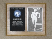 Hall of Fame Plaque: Dan Gagnon, Track and Field, Men's Basketball, Football, Class of 1978