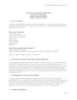 WWU Board of Trustees Minutes: 2016-08-19