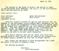 AS Board Minutes 1934-04