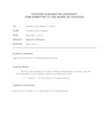 WWU Board of Trustees Agenda Packet: 2012-12-14