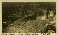 Lower Baker River dam construction 1925-04-23 Power House Excavation
