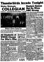 Western Washington Collegian - 1956 January 20