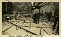 Lower Baker River dam construction 1925-07-07 Placing Steel 4th Floor