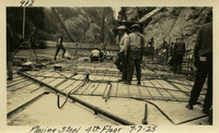 Lower Baker River dam construction 1925-07-07 Placing Steel 4th Floor