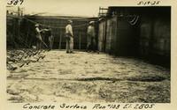 Lower Baker River dam construction 1925-05-19 Concrete Surface Run #108 El.280.5
