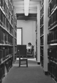 1975 Student in Library