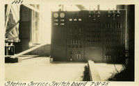 Lower Baker River dam construction 1925-07-31 Station Service Switch Board