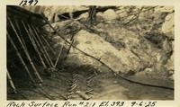 Lower Baker River dam construction 1925-09-06 Rock Surface Run #211 El.393