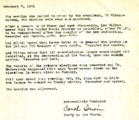 AS Board Minutes 1951-02