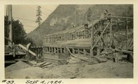 Lower Baker River dam construction 1924-09-04 Powerhouse