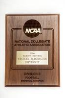 Football Plaque: NCAA Statistical Champion, Kickoff Returns, 2000