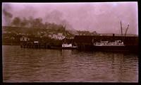 Negative of wooden steamship
