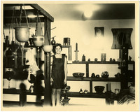 Woman standing in gift shop