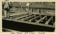 Lower Baker River dam construction 1925-07-03 Floor Forms 4th Floor