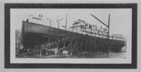 Launching of the Catherine D., the Pacific American Fisheries (PAF) ship named for Catherine Deming,
