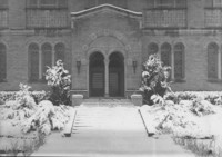 1945 Library: North Doors in Snow