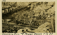 Lower Baker River dam construction 1925-05-16 Concrete Run #9 Power House