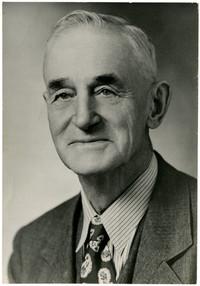 Studio portrait of unidentified older man