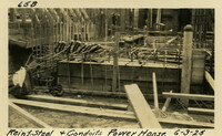 Lower Baker River dam construction 1925-06-03 Reinf Steel & Conduits Power House