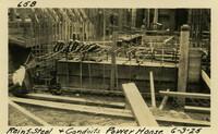 Lower Baker River dam construction 1925-06-03 Reinf Steel & Conduits Power House