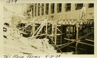 Lower Baker River dam construction 1925-08-31 Tail Race Forms