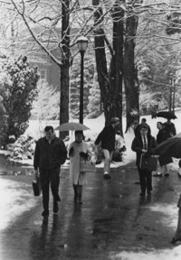 1969 Students in Snow