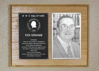 Hall of Fame Plaque: Ken Graham, Contributor, Class of 1990