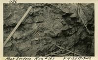 Lower Baker River dam construction 1925-08-09 Rock Surface Run #183 West Side