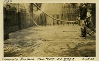 Lower Baker River dam construction 1925-05-18 Concrete Surface Run #107 El.272.5