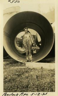 Lower Baker River dam construction 1925-05-12 Penstock Pipe