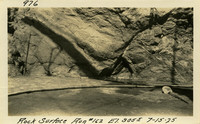 Lower Baker River dam construction 1925-07-15 Rock Surface #162 El.3055