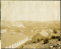Fairhaven - View of South Hill, south Bellingham, from above rooftops of Pacific American Fisheries facilities