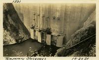 Lower Baker River dam construction 1925-10-20 Temporary Sluiceways