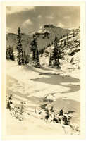 Snowy view of Table Mountain with Bagley Creek